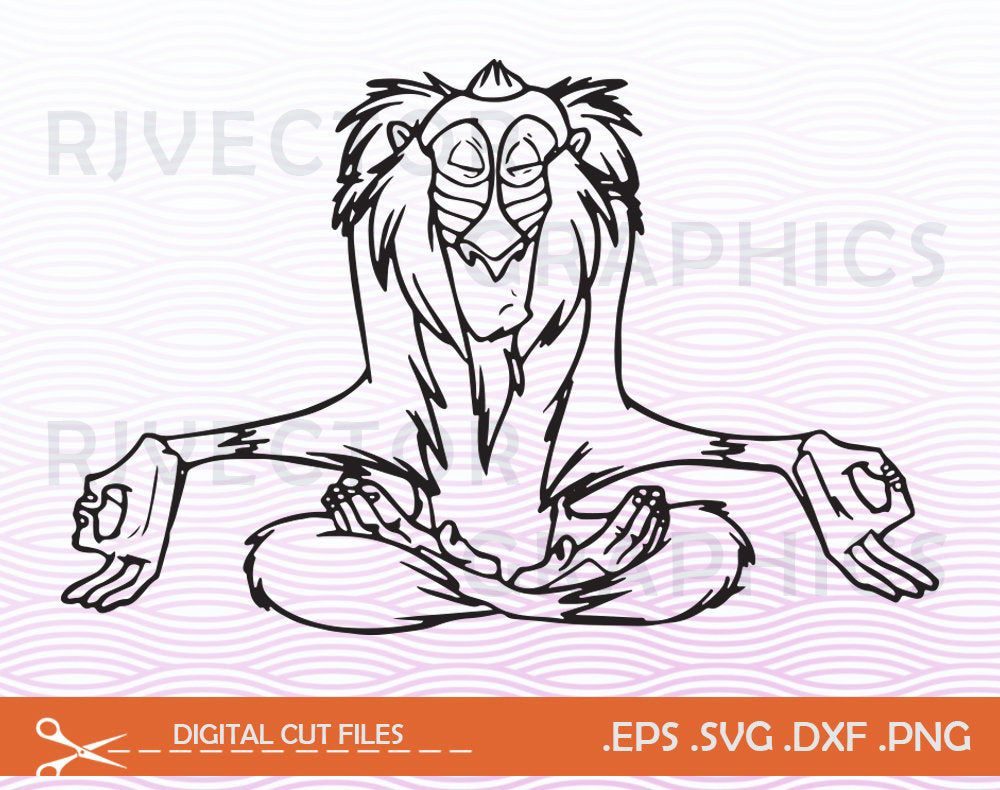 Lion King Svg Disney Rafiki Digital File Rafiki Svg Png Jpg