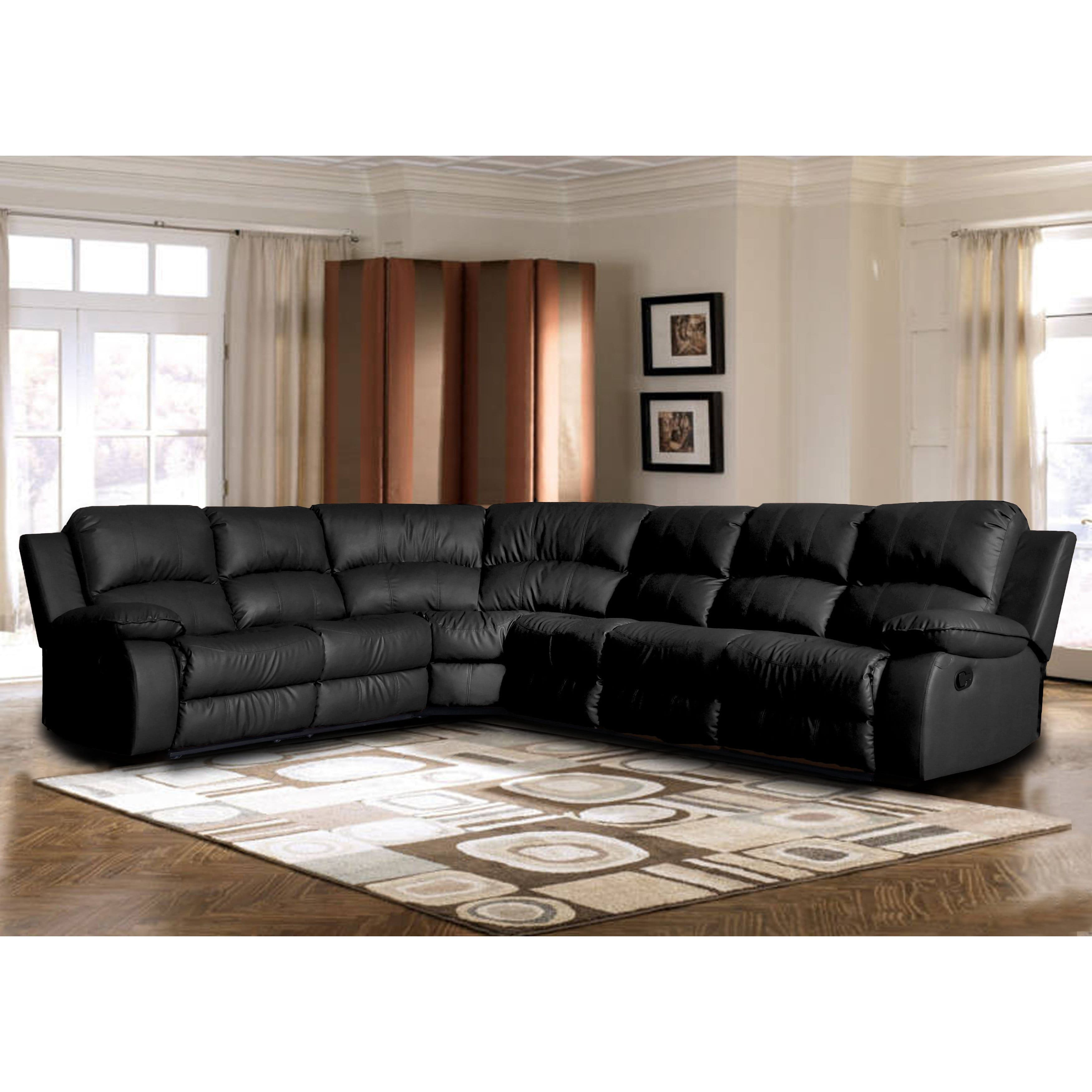 Madison Classic Oversize and Overstuffed Corner Bonded Leather