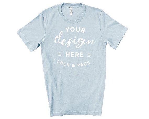 Download Free Mens Bella Canvas 3001 Light Blue T Shirt Mockup Simple Psd The Biggest Source Of Free Photoreal Mockup Free Psd Free Psd Mockups Templates Shirt Mockup