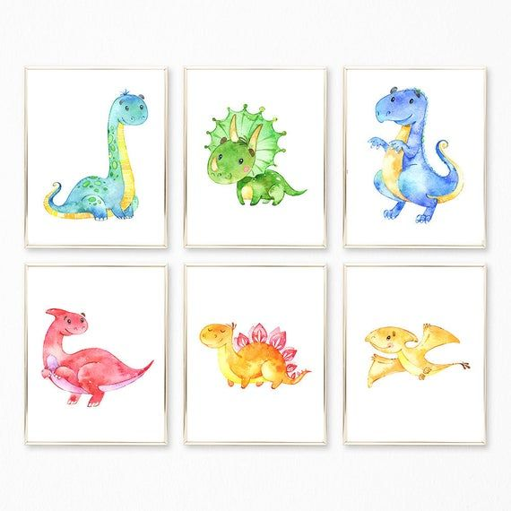 Dinosaur Print Set, Dinosaur Prints, Dinosaur Printables, Dinosaur Decor, Dinosaur Wall Art, Boys Nursery Prints, Dinosaur Nursery Art Print