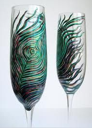 love these peacock feather glasses