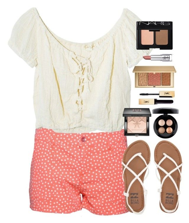 """Untitled #823"" by pandalover456 ❤ liked on Polyvore featuring Splendid, Jens Pirate Booty, Billabong, Givenchy, MAC Cosmetics, Estée Lauder and NARS Cosmetics"