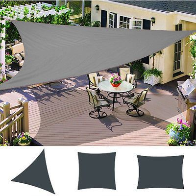 Patio #garden sun #shade sail canopy awning #sunscreen 98% uv block anthracite & Patio #garden sun #shade sail canopy awning #sunscreen 98% uv ...