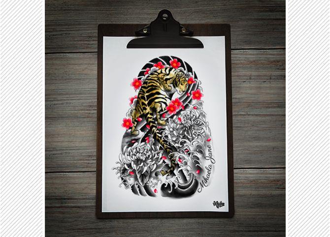 Japanese Style Tiger Tattoo By Maiko Nagao I My Blog