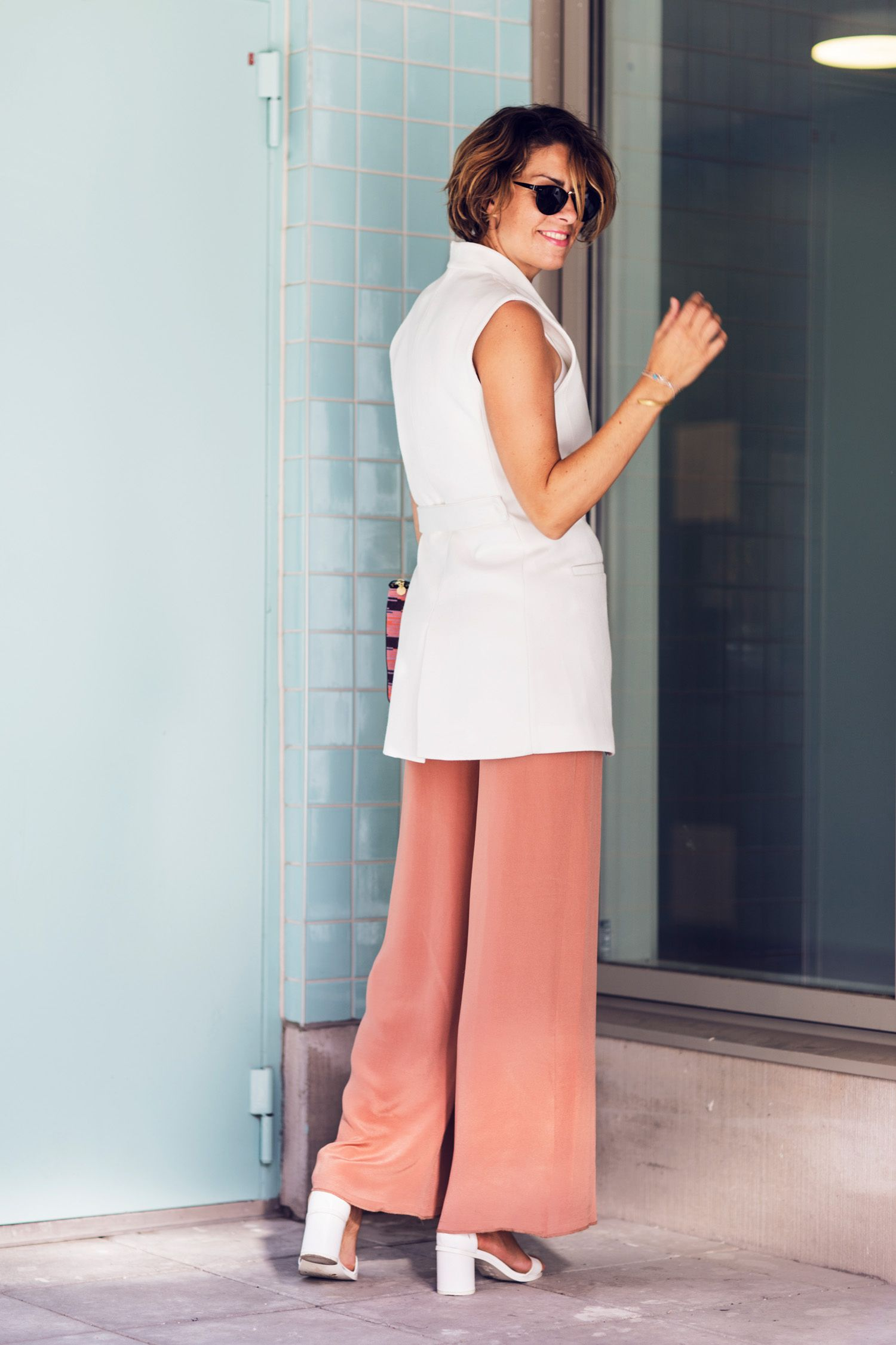 Nina Campioni at ELLE Sweden shows of her OOTD, or look of