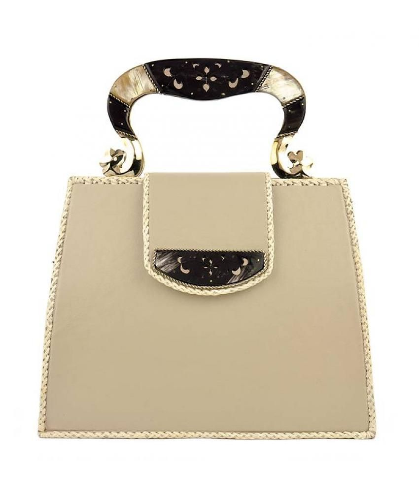 Gabriela Fiori Handbag Beige Off White Maximastyle