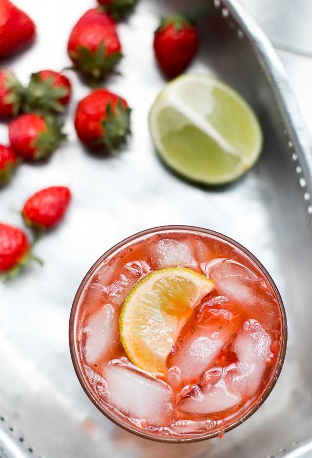 Strawberry Gin Cooler Cocktail