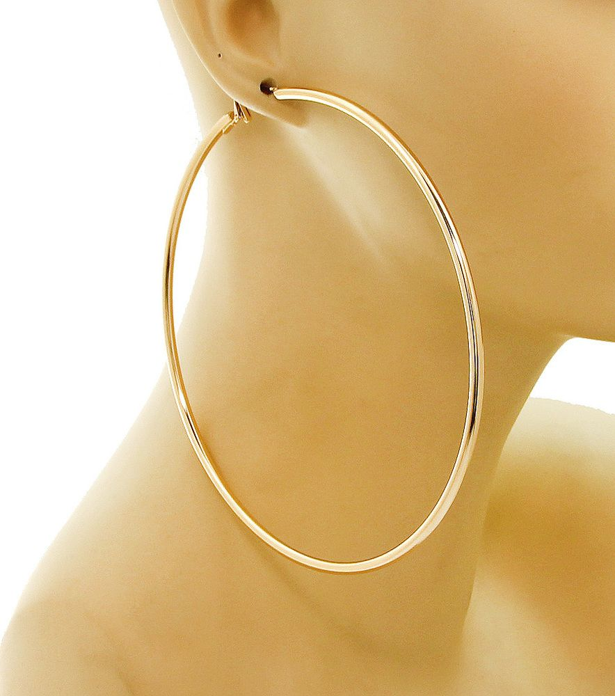Hoops Are 4 Thin Hoop Earrings Available In Gold And Silver Size Oversized Material Lead Compliant