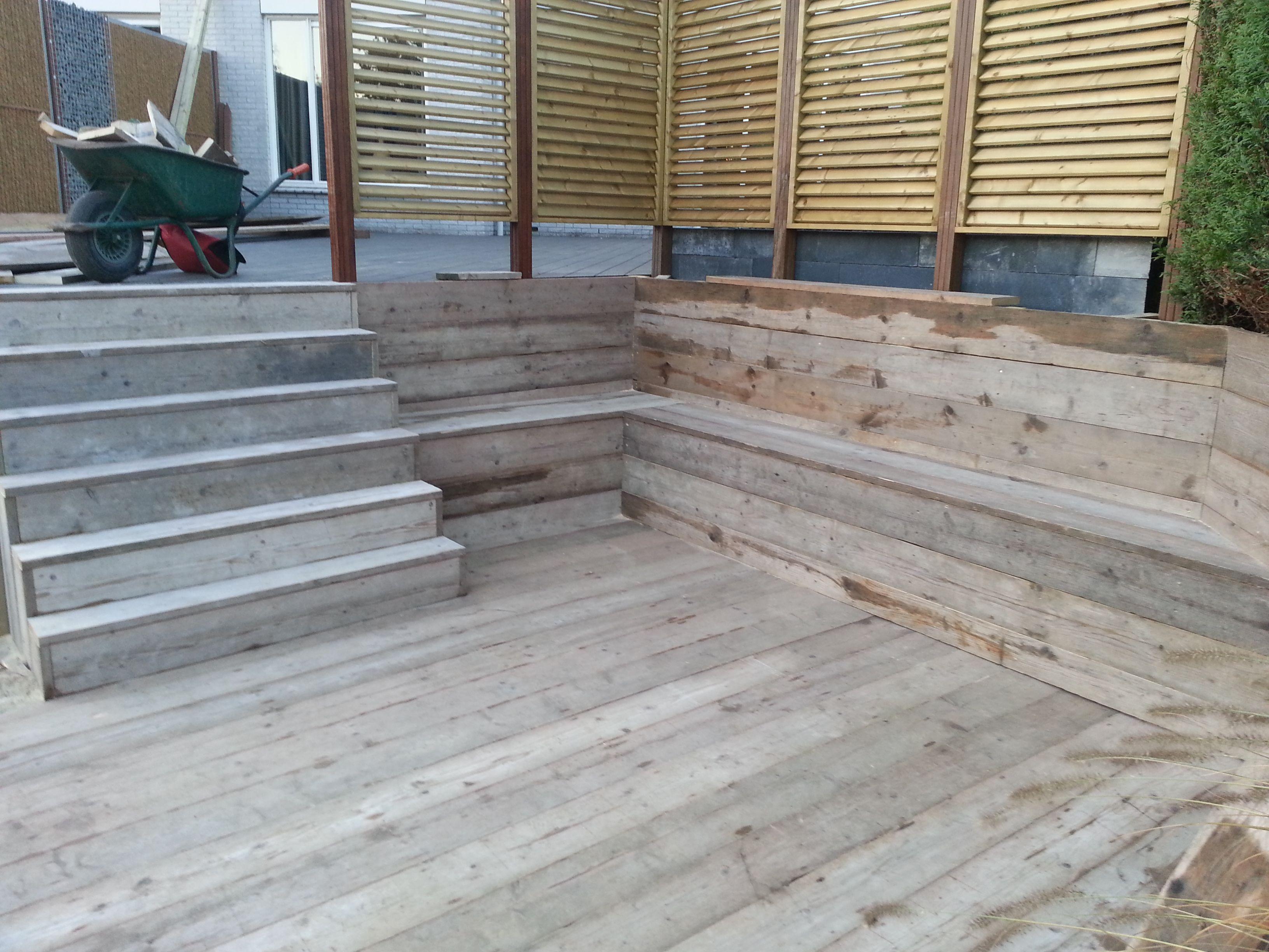 Stijger planken vlonder planken een prachtig natuurproduct ze zijn geschikt voor elk terras - Bank terras hout ...