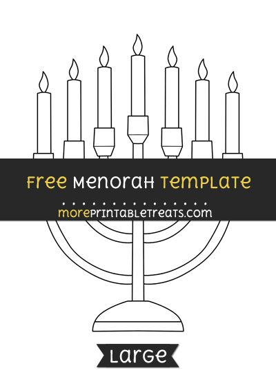 Free Menorah Template - Large | Shapes and Templates Printables ...