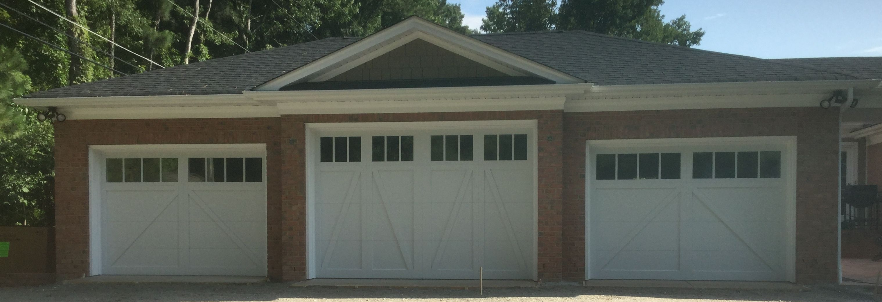 Two 10x7 One 12x8 Model 5633 Double Sided Steel Insulated Garage Doors With Fiber Accent Batten Overlay Square To Garage Door Insulation Garage Doors Doors