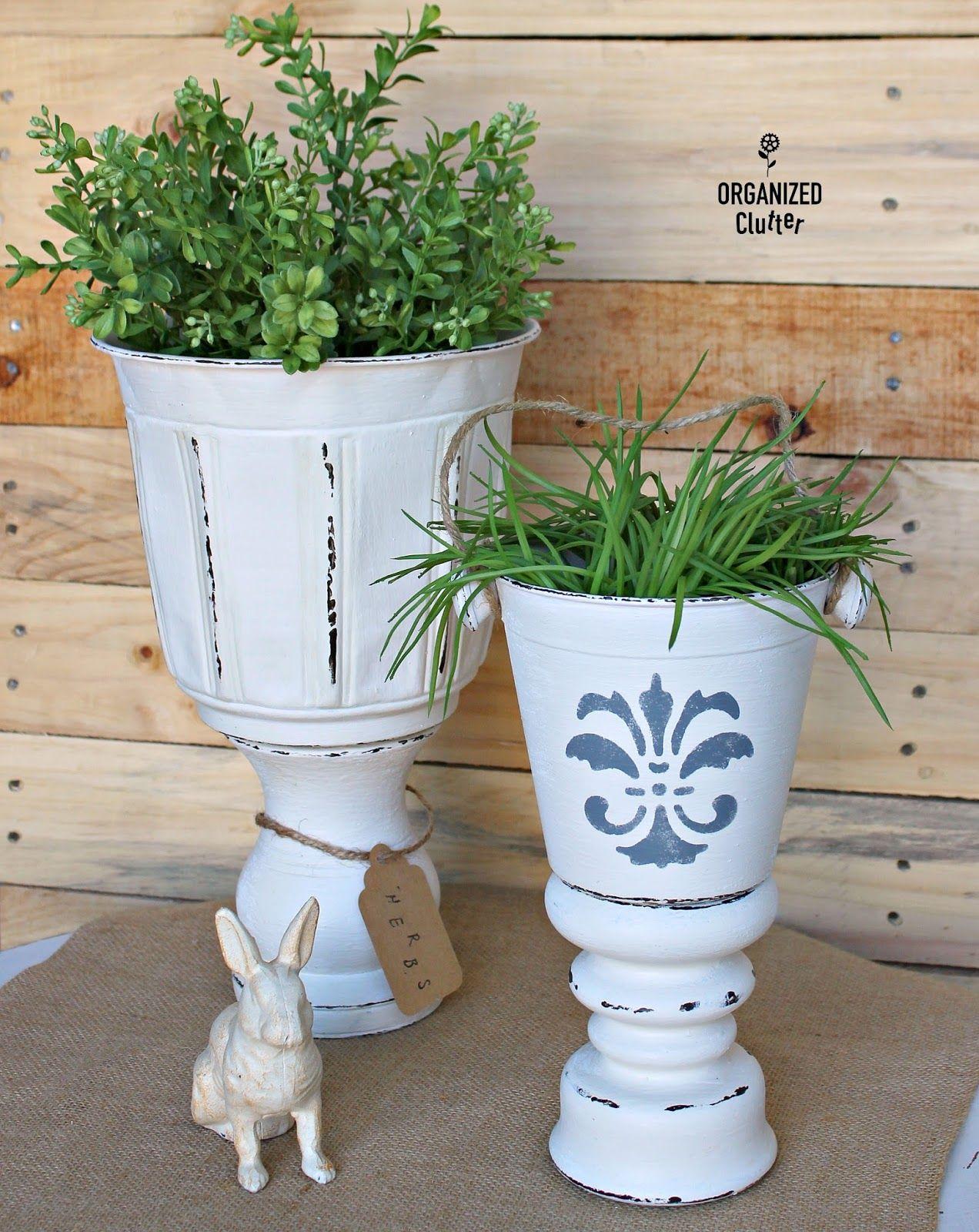 Diy Planter Urns From Thrift Shop Finds Thrift Shop 400 x 300