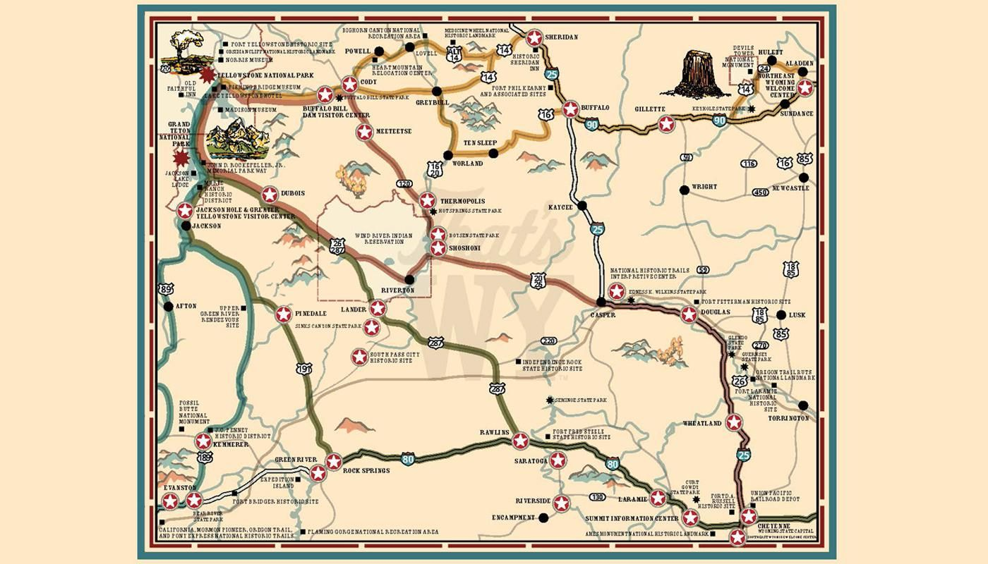 Wyoming travel sticker maps | 2019 Road Trip - 19th c ...
