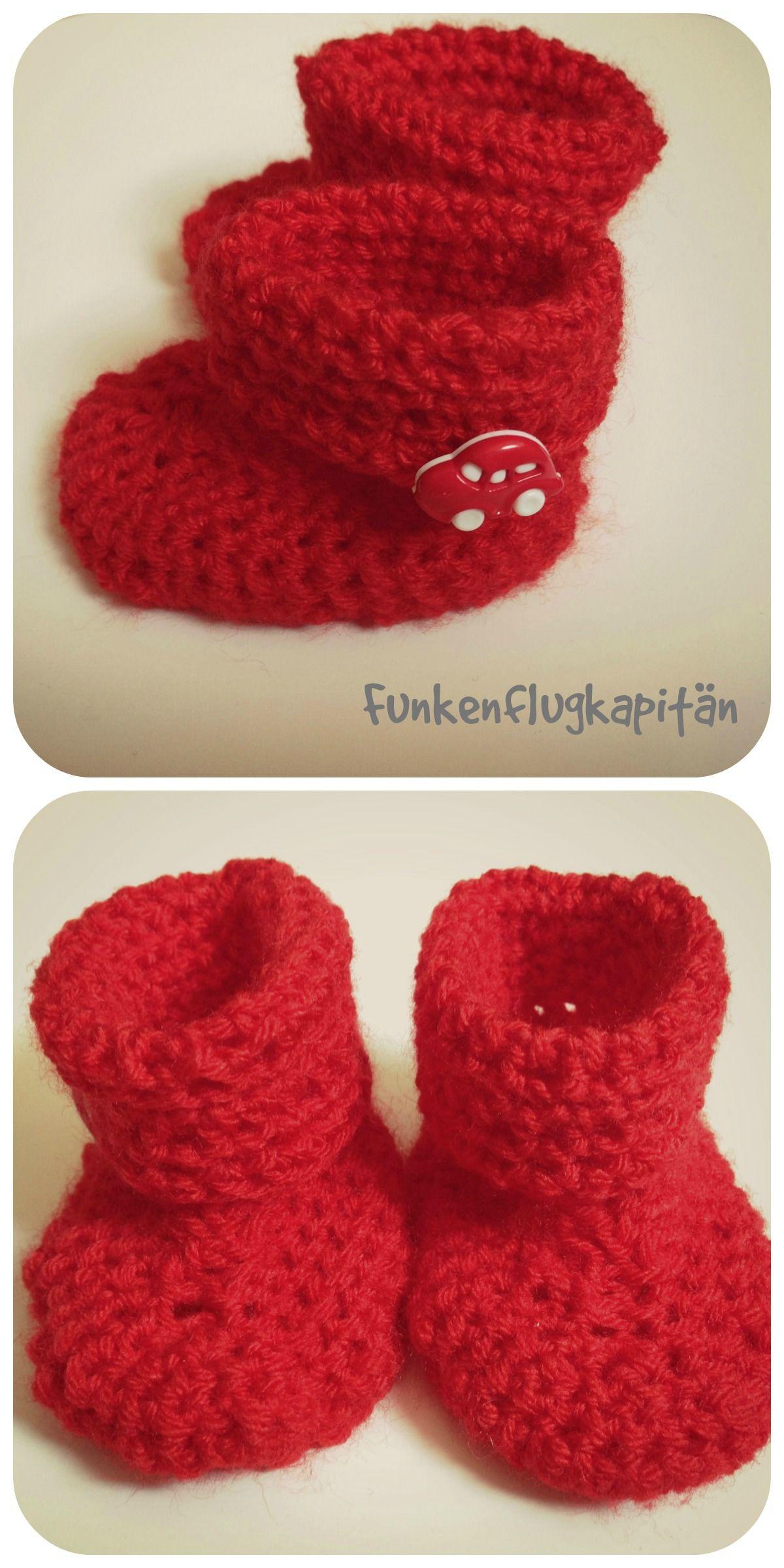 baby boots crochet, Babyschuhe häkeln | Wollsachen | Pinterest ...
