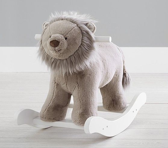 Taupe Lion Plush Rocker Nursery Rocker Bunny Nursery