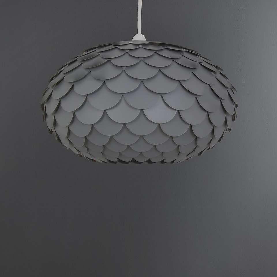 Elements Harley 34cm Twisted Shade Bedroom Light Shades Gray Pendant Pendant Lamp Shade