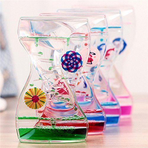 Liquid Floating Timer Home Office Decor Desktop Motion Visual Timer Oil Drop Toy Gift