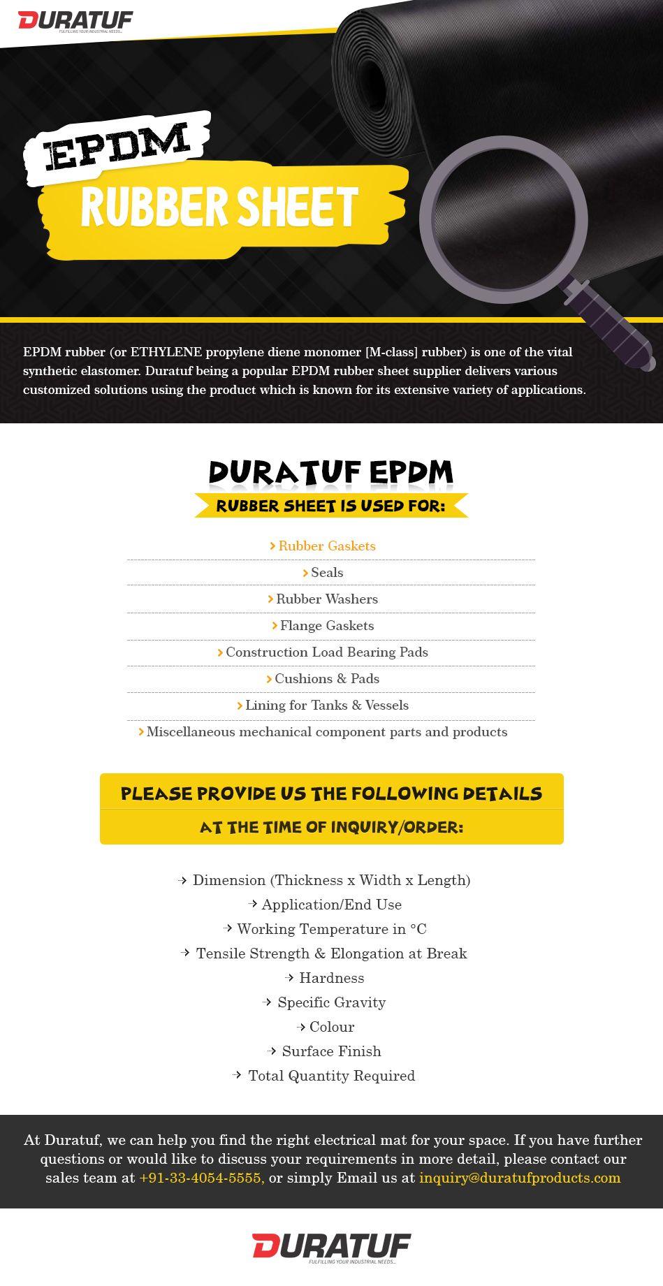Duratuf being a popular EPDM rubber sheet supplier