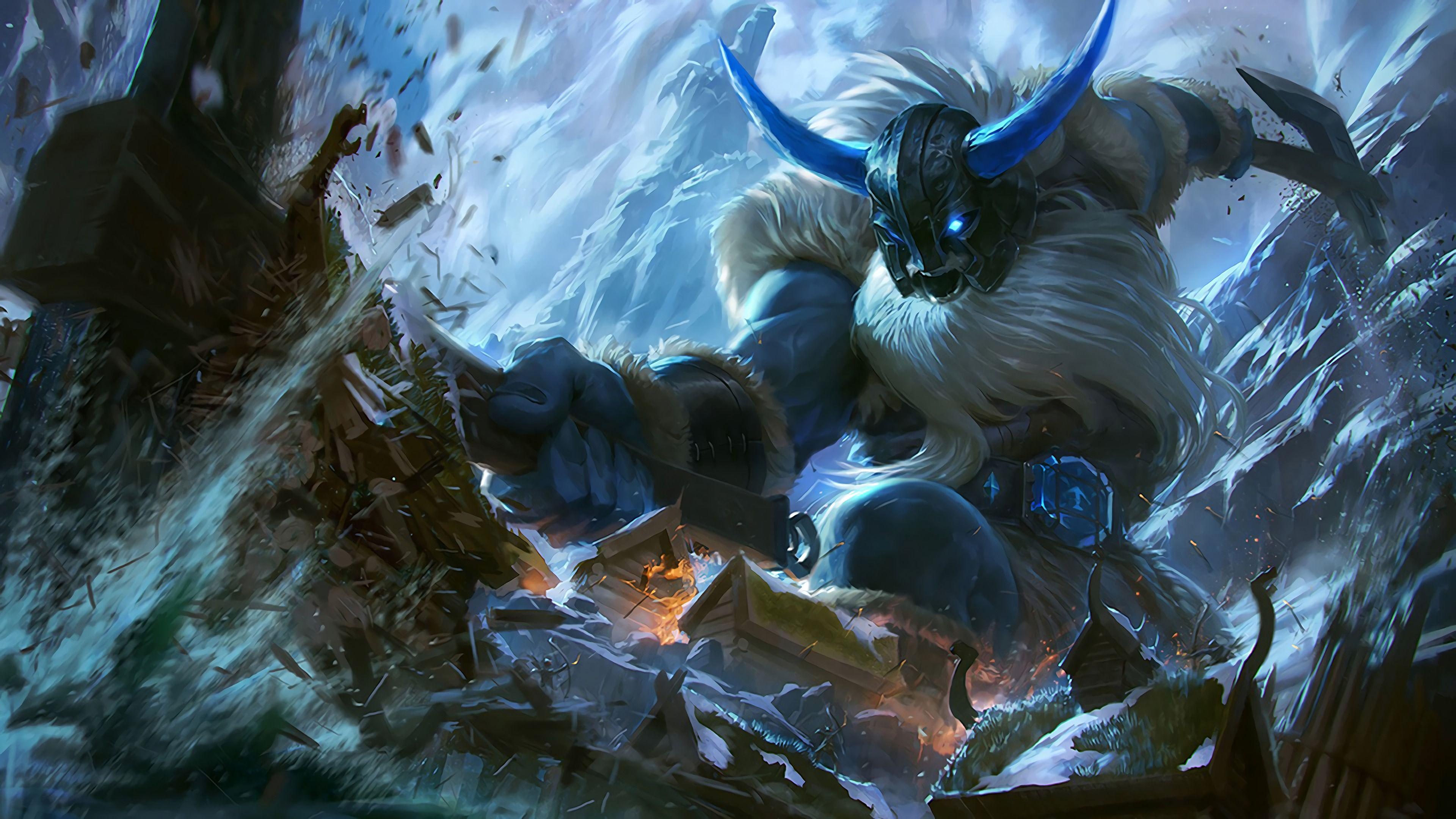 Glacial Olaf League Of Legends Wallpaper Hd League Of Legends Wallpapers Art Of Lol In 2021 League Of Legends League Of Legends Game Olaf