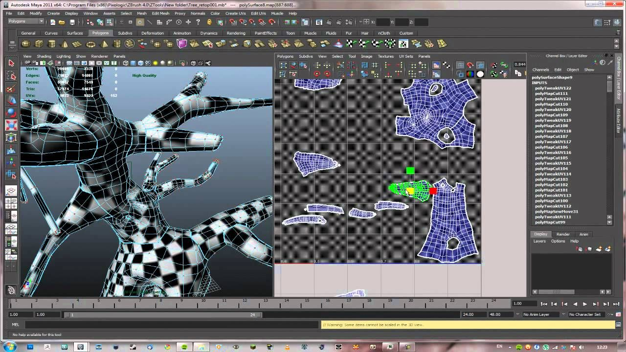 Intermediate Bonsai Tree 3D tutorial: 05 UV Mapping in Maya