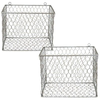 Shop Industrial Wire Mesh Baskets Designed As Storage Organizers To Whip  Your Organizing Into Shape! For More Functional Wall Mounted Vintage Wire  Mesh ...