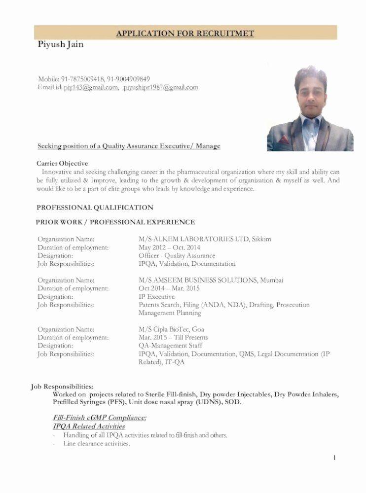 Pharmaceutical Qa Resume Sample Best Of Resume For Qa In 2021 Resume Pharmaceutical Free Resume