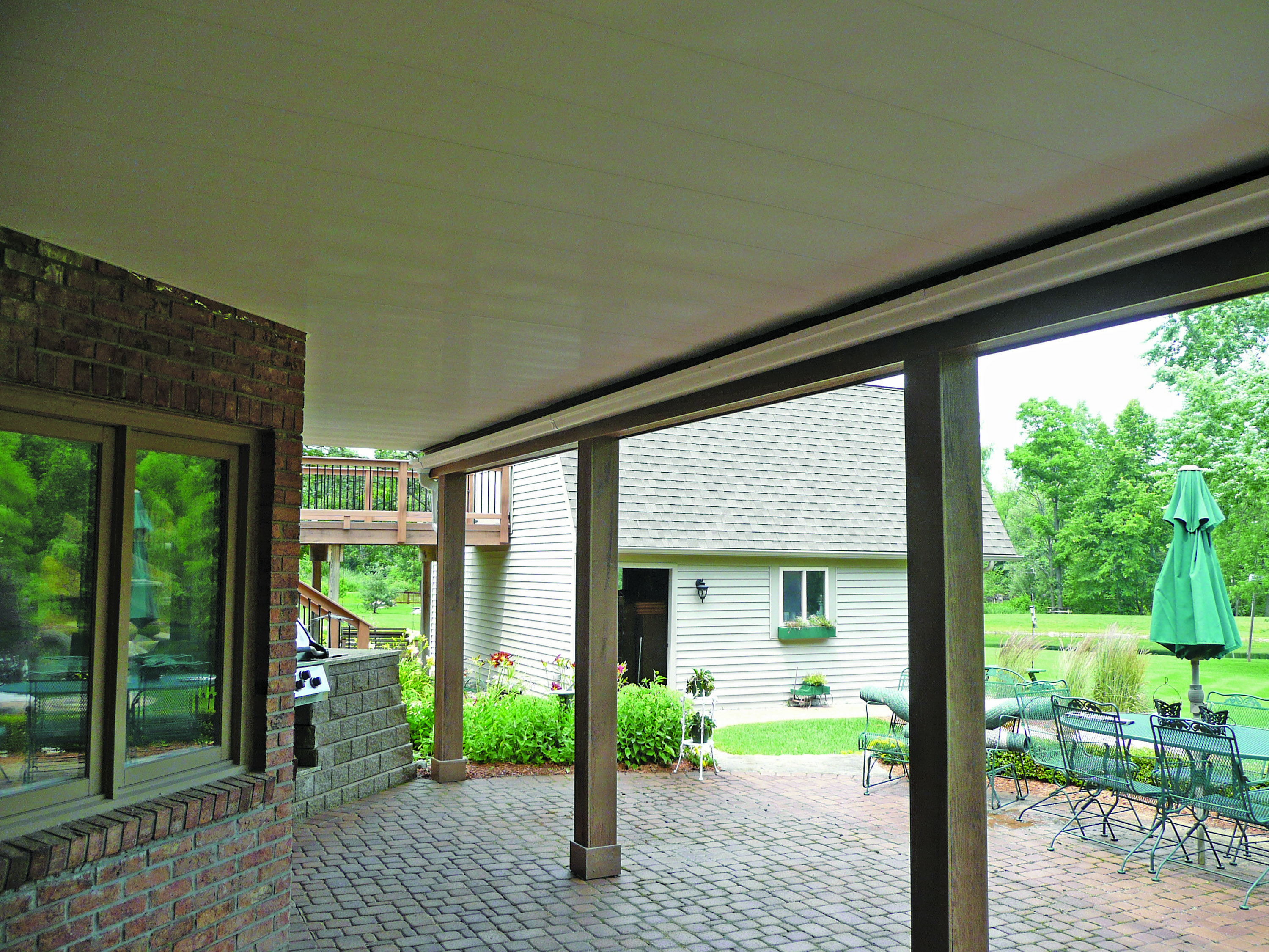 Zip Up Underdeck Installs Quickly And Easily Using Just 5 Components Transforms Under Utilized Area Ranch House Exterior Exterior House Remodel Decks Backyard