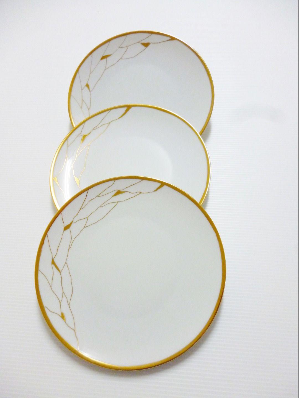 Tuto Peinture Sur Porcelaine assiettes en porcelaine de limoges décor moderne doré