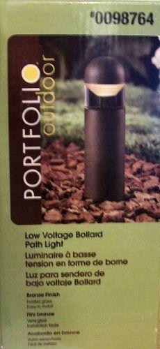 Portfolio Outdoor Metal Constructed Low Voltage Bollard Path