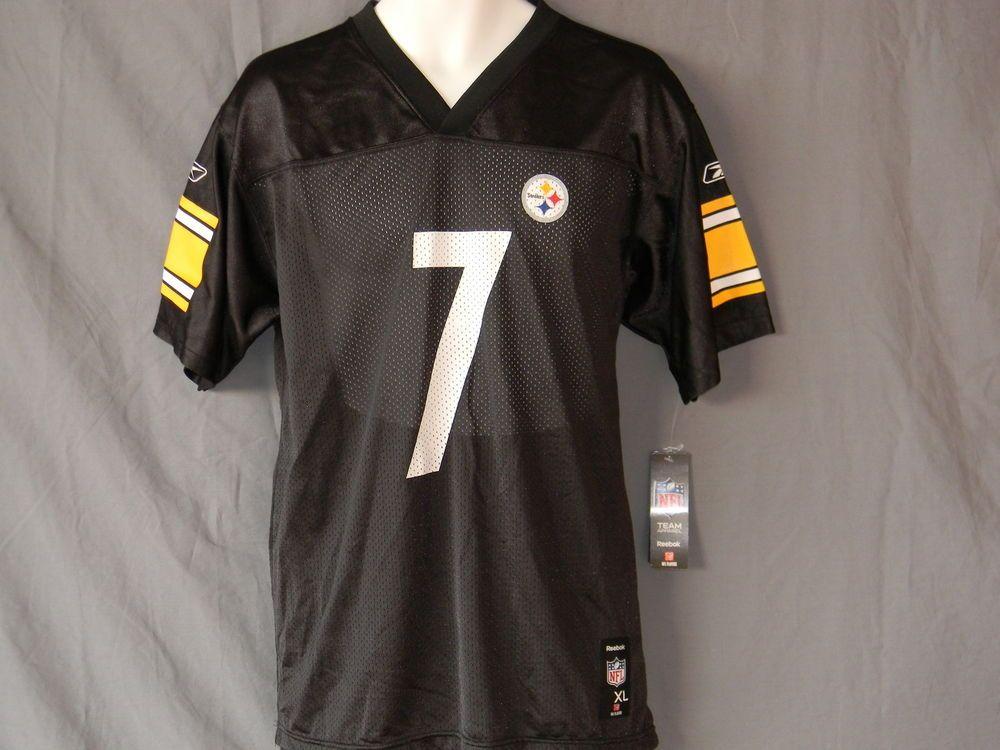 454a5a13f  7 Ben Roethlisberger Pittsburgh Steelers Jersey Youth Size XL 18 20 Reebok  New  Reebok  PittsburghSteelers