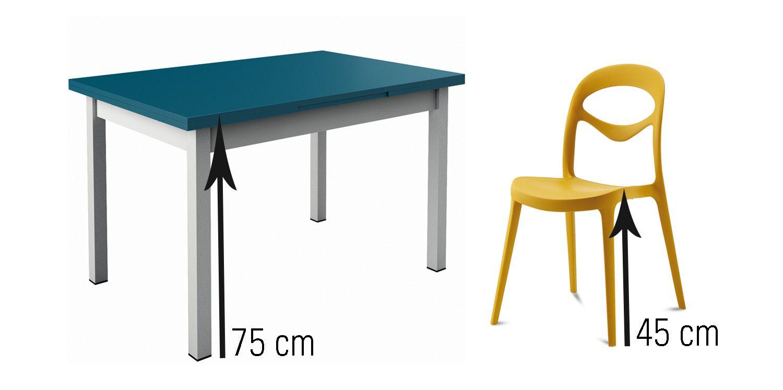 Hauteur De Chaises Conseillee Pour Une Table Classique De 75 Cm Environ 45 Cm Tabouret De Bar Bois Assise Tabouret De Bar Table Manger