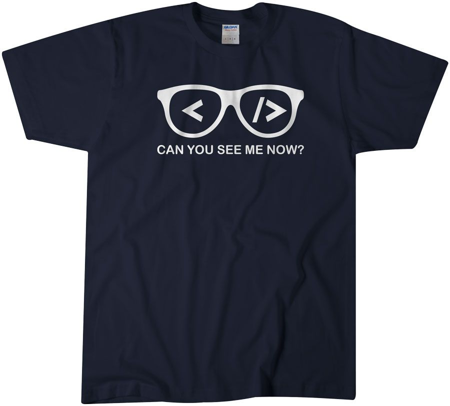 Can You See Me Now Computer Science T Shirt Tee Gift For Men Women