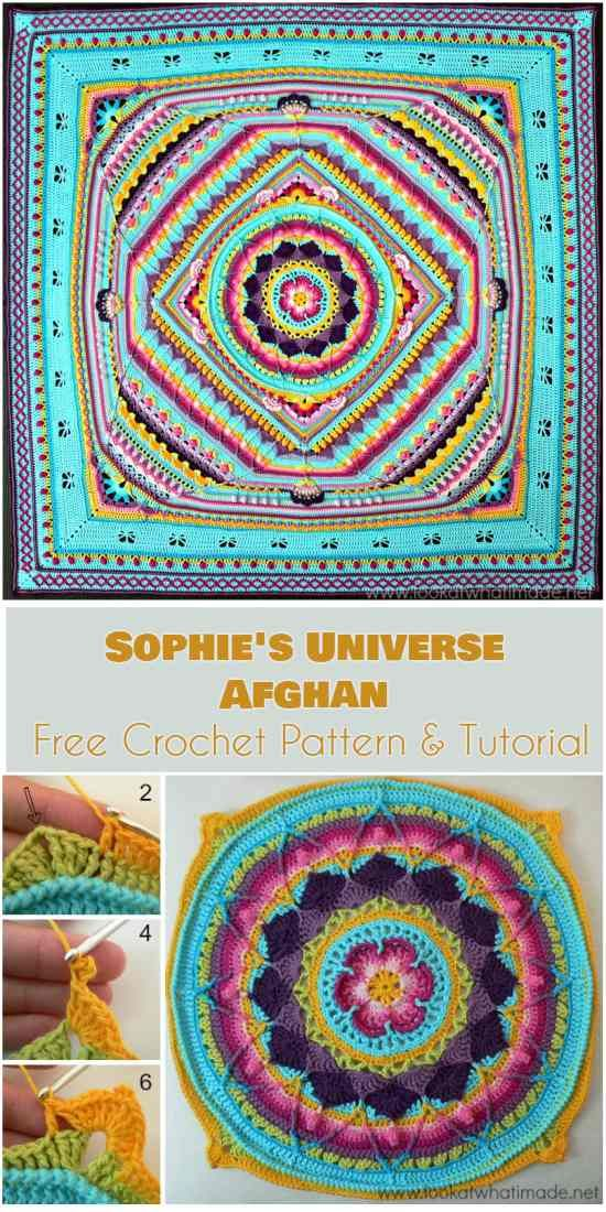 Sophie\'s Universe Afghan Free Pattern and Tutorial | Crochet ...