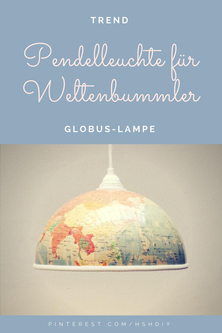 Tolle Lampe Für Weltenbummler Gibts Bei Dawanda! Mit Einem Globus über Dem  Esstisch Oder Im