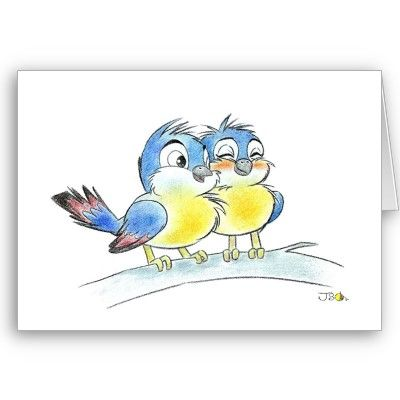 Blue birds card by jsoh