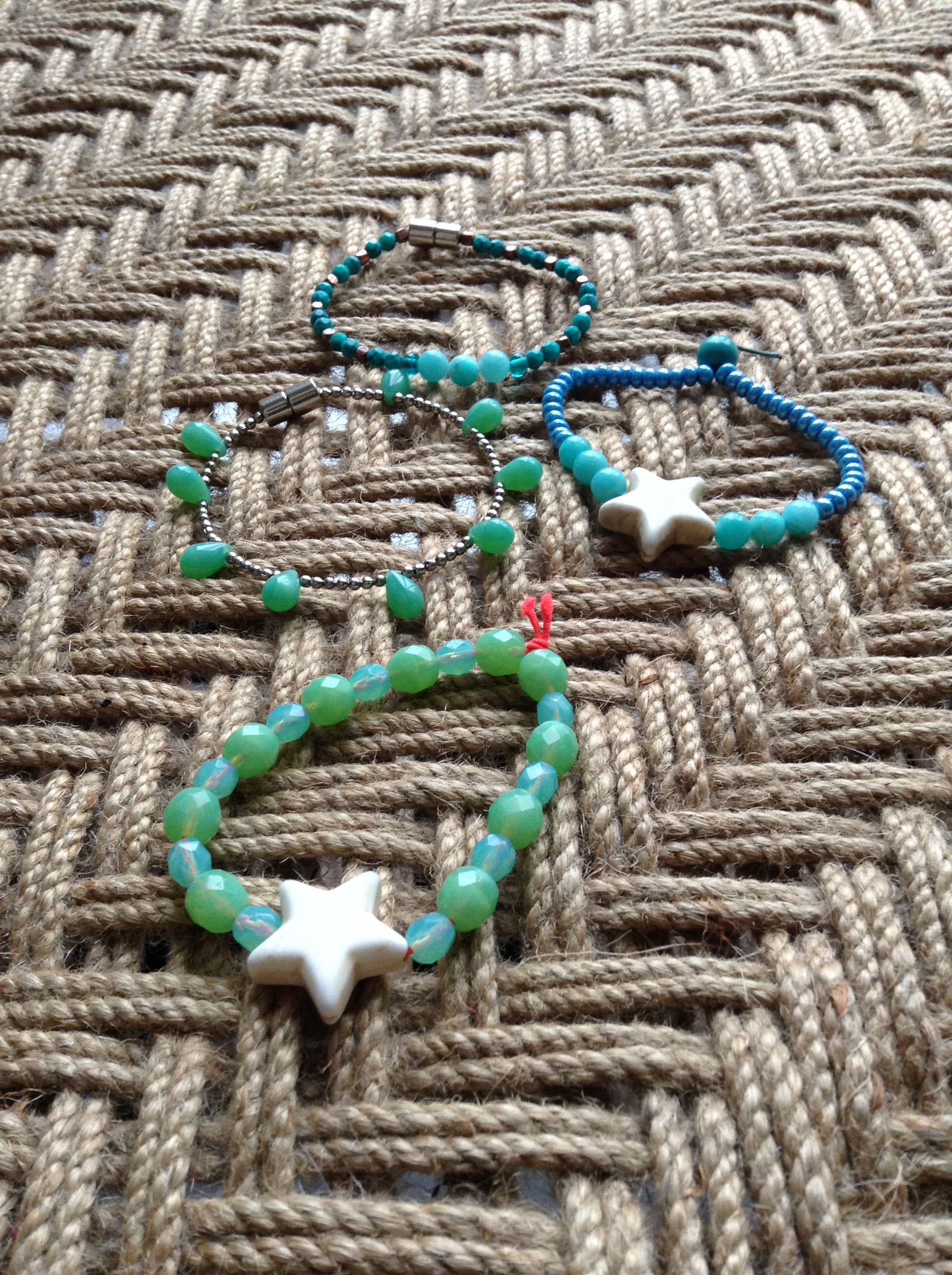 Ibiza style bracelets. Handmade and mostly recycled #omgq