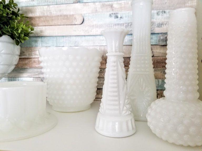 Pin by Pamela Adamcik on Milk glass decor in 2020 | Milk