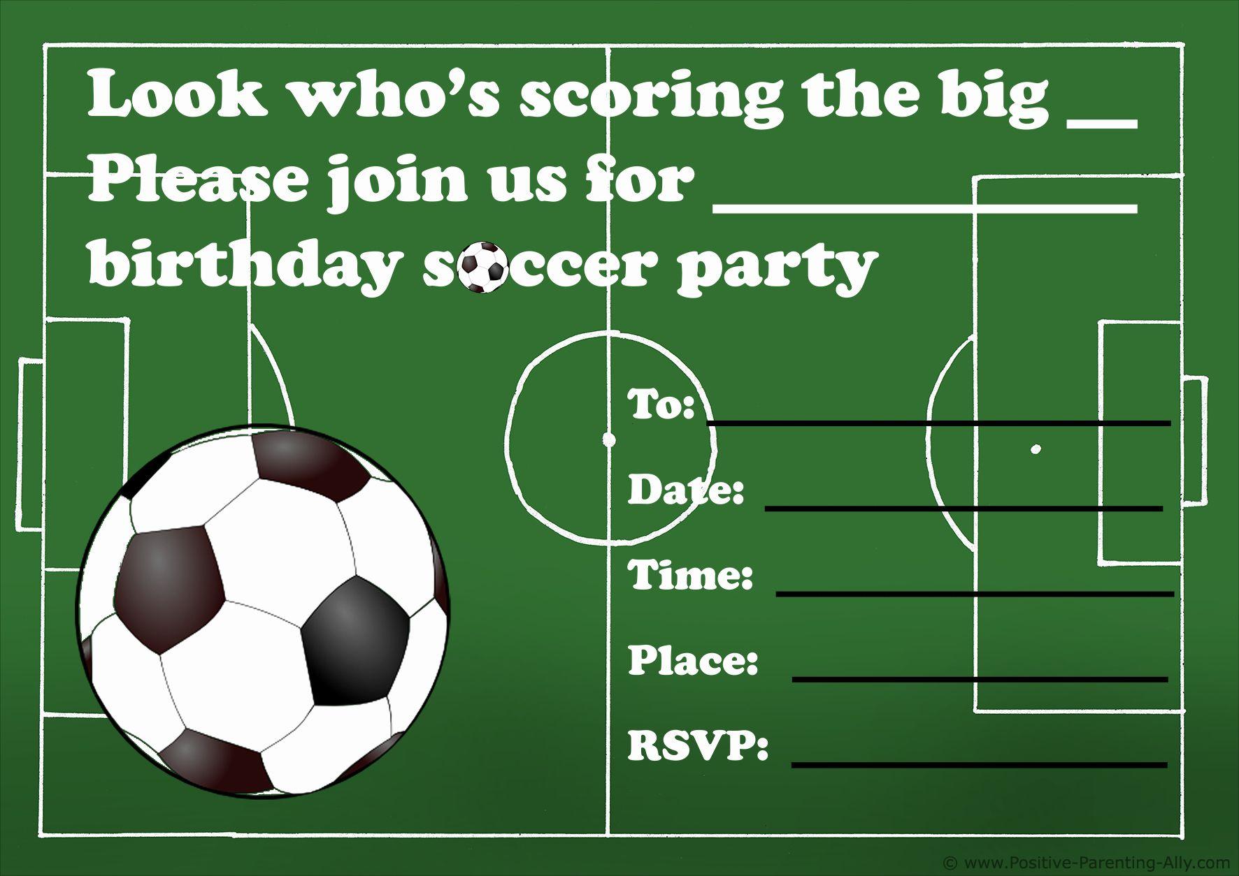 free football party invitation template elegant free