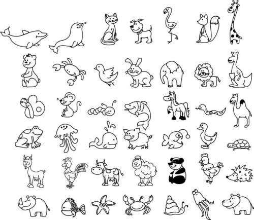 Ausmalbild Tiere Wimmelbild Tiere Zum Ausmalen Kostenlos Ausdrucken Albinoanimal Ausdrucken Ausmalbild In 2020 Simple Line Drawings Animal Doodles Animal Drawings