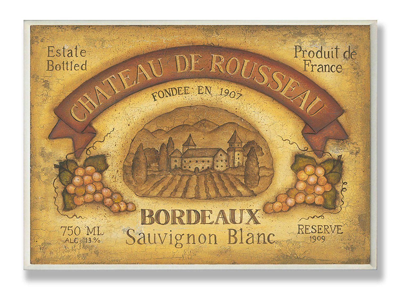 The Stupell Home Decor Collection Gold Chateau De Rousseau Bordeaux ...