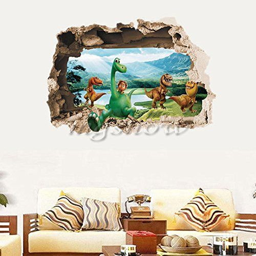 Dinosaur FamilyAYemovable Pvc Wall Stickers Art Vinyl Decal Mural HomeRoomDecor`