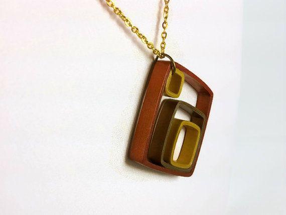 Mezclado Metal geométricas papel collar por SweetheartsandCrafts 27€