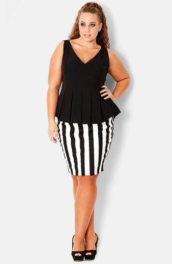 f83323c8d95 city chic vertical stripe skirt  plussizeskirts  plussize  fatshion   plussizeclothes