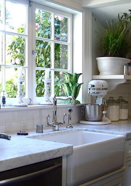 casement window above apron sink stone shelf below window on modern kitchen design that will inspire your luxury interior essential elements id=19863