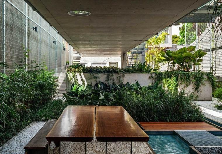 Fontaine et bassin aquatique pour jardin paysager moderne | Skylight ...