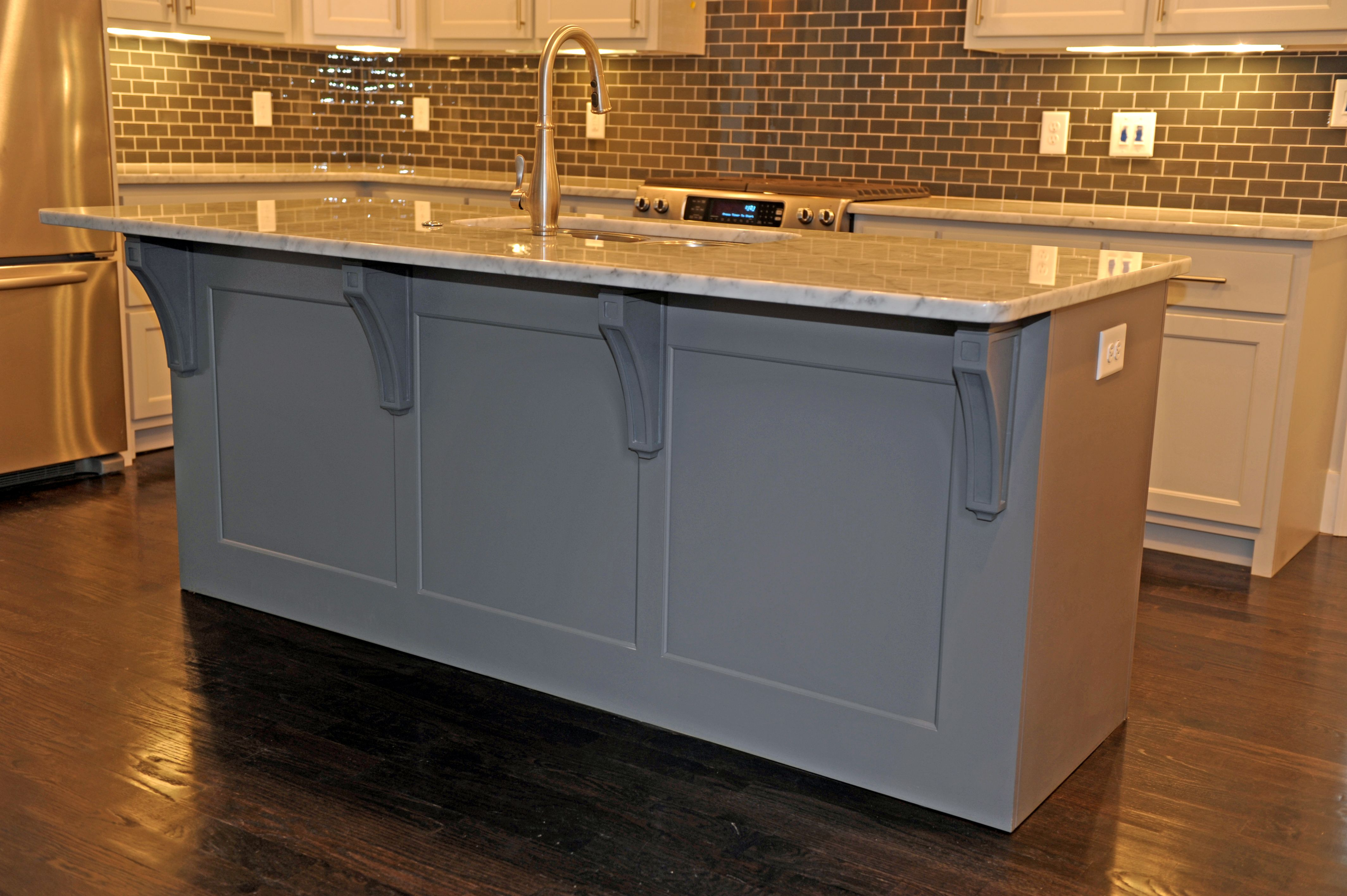 "shaker style maple cabinets painted ""the right white"" and the"