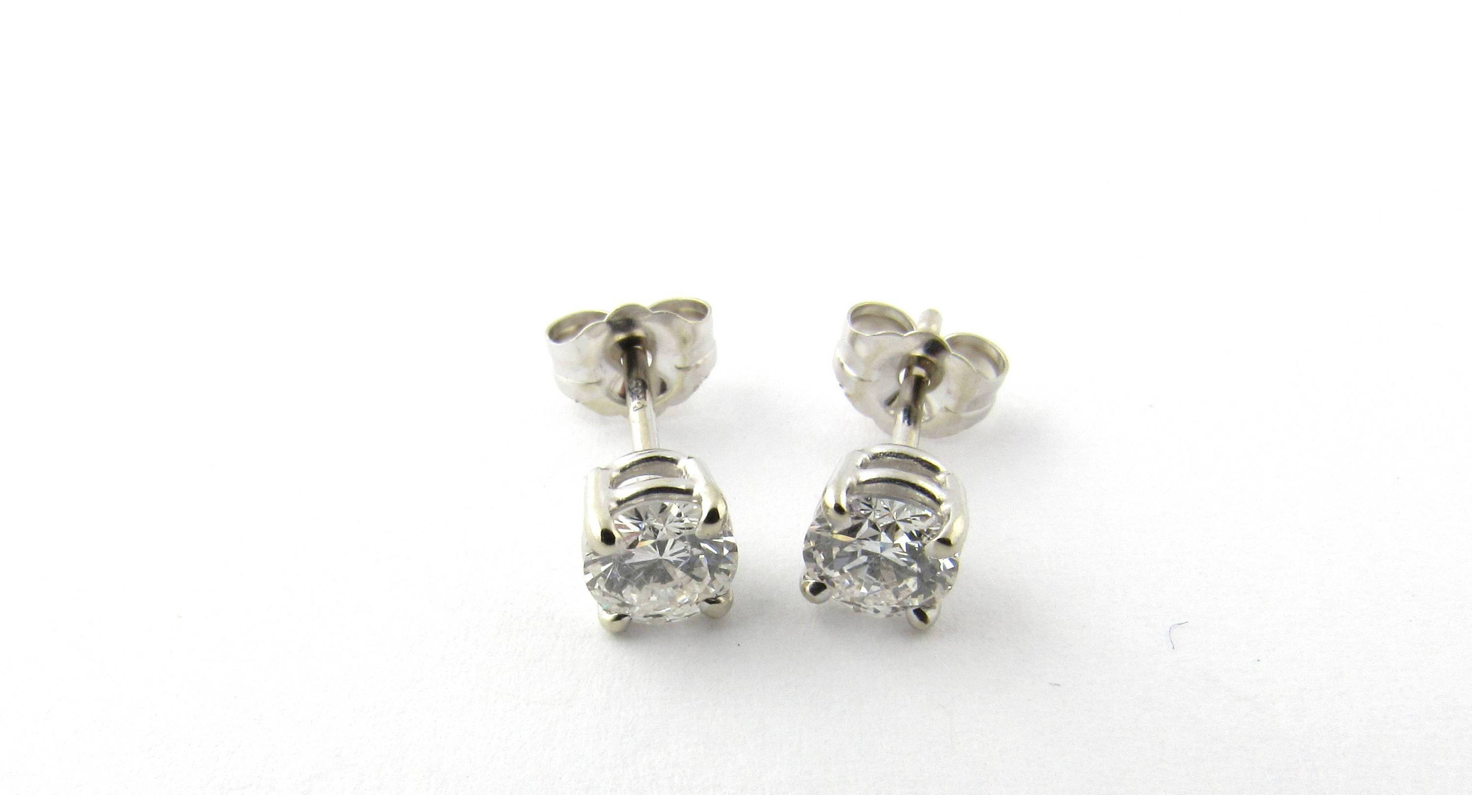 brilliant pin earrings stud diamond cts white round vintage antique gold