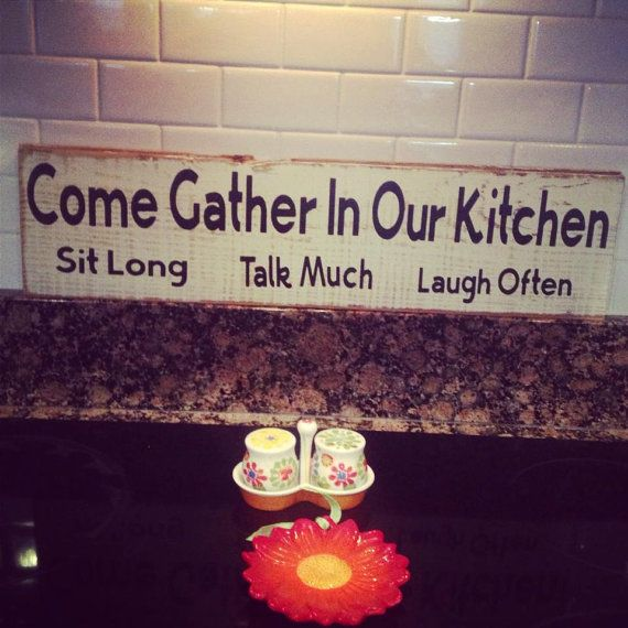 Hey, I found this really awesome Etsy listing at http://www.etsy.com/listing/176644208/reclaimed-wood-kitchen-sign-come-gather