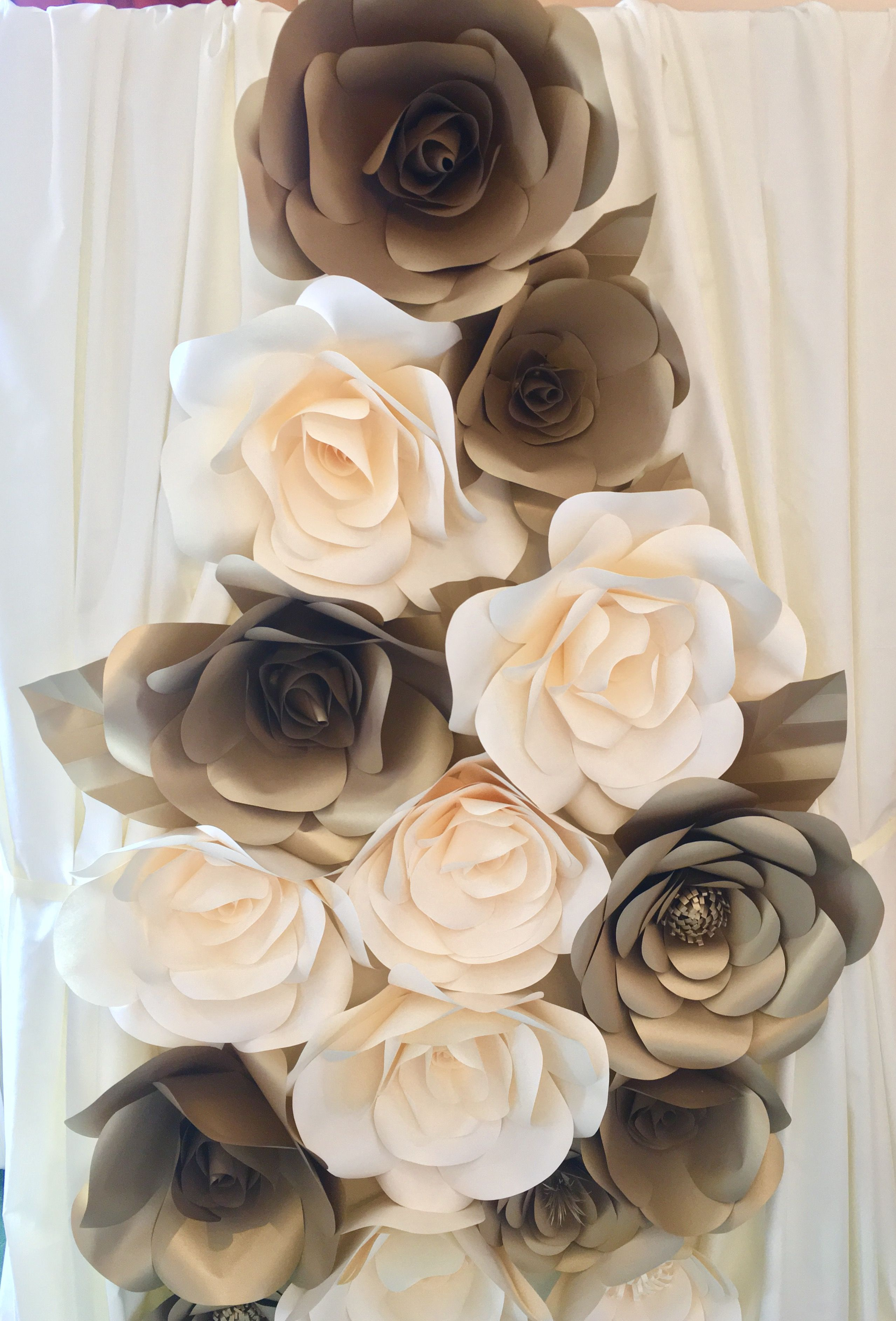 Gold And Cream Giant Paper Flower Backdrop Giant Paper Flower