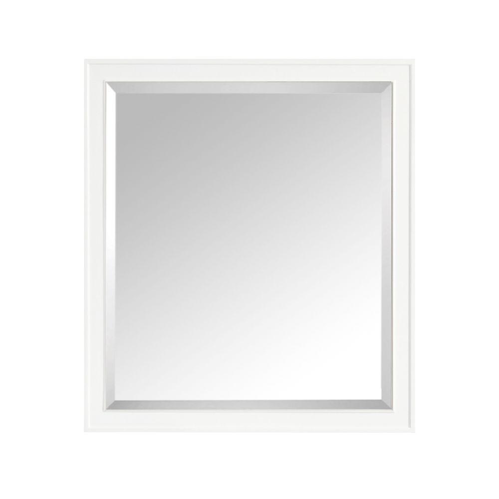 Avanity Madison 36 In W X 32 In H Framed Rectangular Beveled Edge Bathroom Vanity Mirror In White Madison M36 Wt The Home Depot Rectangular Bathroom Mirror White Bathroom Mirror Bathroom Mirror